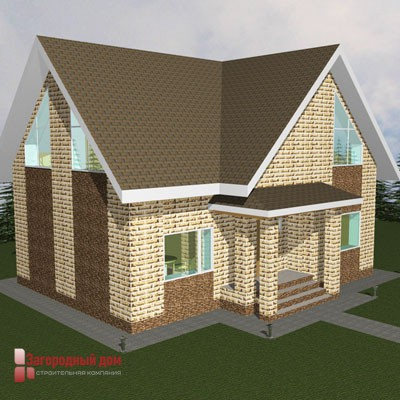 Проект дома из пеноблоков Сусанино